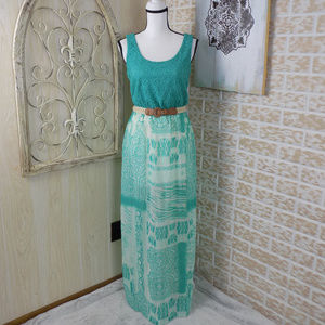 Maurices Crochet and sheer boho maxi dress